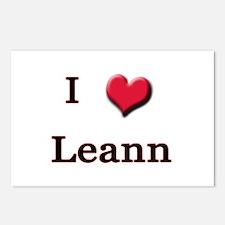 I Love (Heart) Leann Postcards (Package of 8)