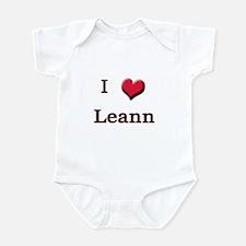 I Love (Heart) Leann Infant Bodysuit