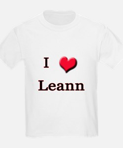 I Love (Heart) Leann T-Shirt