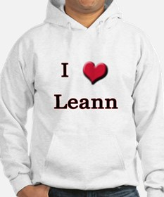 I Love (Heart) Leann Jumper Hoody