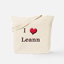 I Love (Heart) Leann Tote Bag