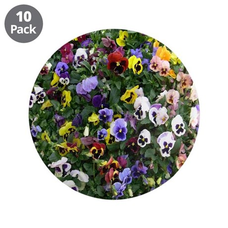 """Pansies 3.5"""" Button (10 pack)"""