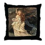 The Lady Ophelia Throw Pillow