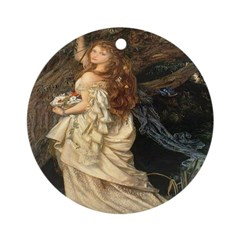 The Lady Ophelia Ornament (Round)