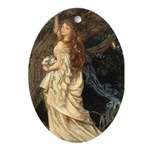 The Lady Ophelia Oval Ornament