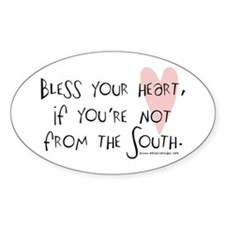 Bless your Heart Oval Decal