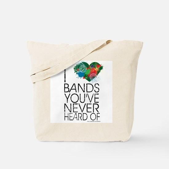 I love Bands Tote Bag