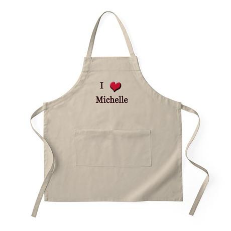 I Love (Heart) Michelle BBQ Apron
