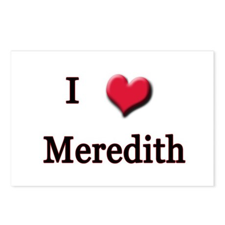 I Love (Heart) Meredith Postcards (Package of 8)