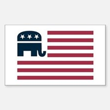 GOP Flag Rectangle Decal