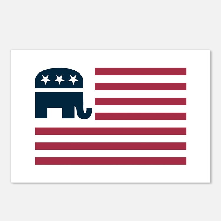 GOP Flag Postcards (Package of 8)