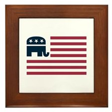 GOP Flag Framed Tile