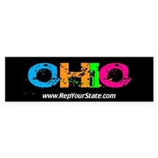 Colorful Ohio Bumper Bumper Sticker