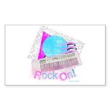Rock On Keyboard Style Rectangle Decal