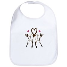My Kitty Hearts Valentine Bib