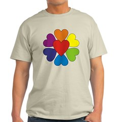Valentine Rainbow Hearts T-Shirt