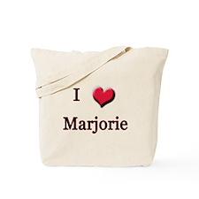 I Love (Heart) Marjorie Tote Bag