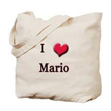I Love (Heart) Mario Tote Bag