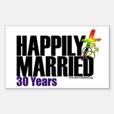 Happily Married 30 years Men Decal