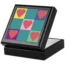 Colorful Hearts Keepsake Box