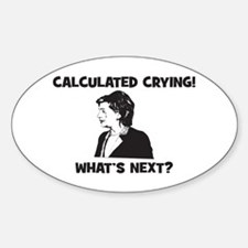 Calculated Crying! What's Nex Oval Decal