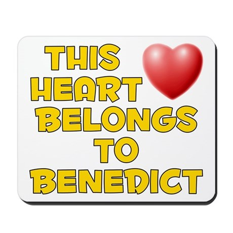 This Heart: Benedict (D) Mousepad