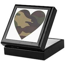 Valentine Camo Heart Keepsake Box