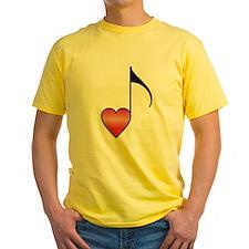 Valentine Music Note Heart T