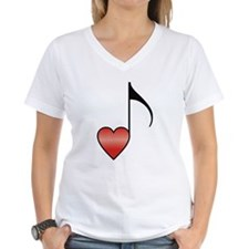 Valentine Music Note Heart Shirt
