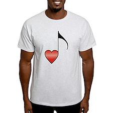 Valentine Music Note Heart T-Shirt
