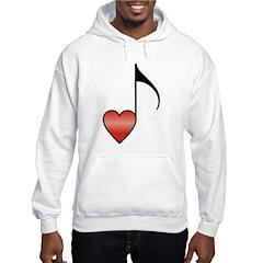 Valentine Music Note Heart Hoodie