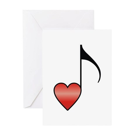 Valentine Music Note Heart Greeting Card