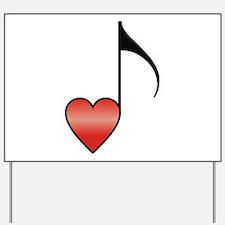 Valentine Music Note Heart Yard Sign