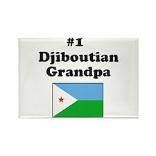 #1 Djiboutian Grandpa Rectangle Magnet