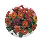 Red Pansies Ornament (Round)