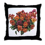 Red Pansies Throw Pillow