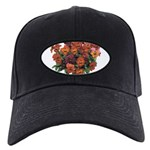 Red Pansies Black Cap