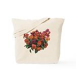 Red Pansies Tote Bag