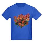 Red Pansies Kids Dark T-Shirt