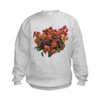 Red Pansies Kids Sweatshirt