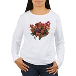 Red Pansies Women's Long Sleeve T-Shirt