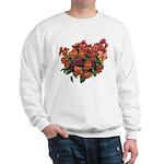 Red Pansies Sweatshirt