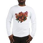 Red Pansies Long Sleeve T-Shirt