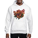 Red Pansies Hooded Sweatshirt