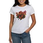 Red Pansies Women's T-Shirt