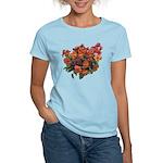 Red Pansies Women's Light T-Shirt