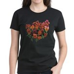 Red Pansies Women's Dark T-Shirt