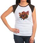 Red Pansies Women's Cap Sleeve T-Shirt