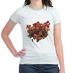 Red Pansies Jr. Ringer T-Shirt