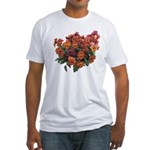 Red Pansies Fitted T-Shirt